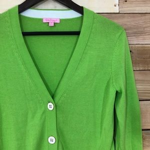 Lilly Pulitzer lime green cardigan